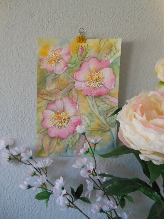 Check out this item in my Etsy shop https://www.etsy.com/uk/listing/498417094/original-watercolor-rosa-canina