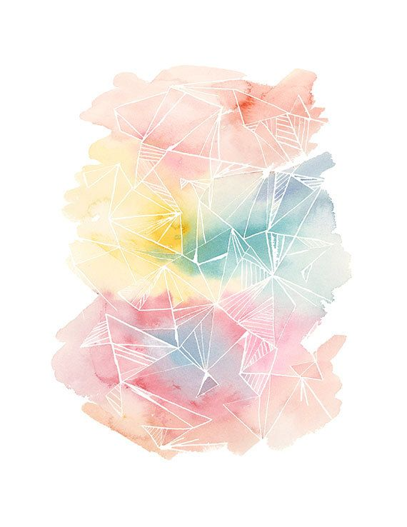Handmade Watercolor Archival Print Multi by YaoChengDesign