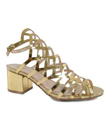 Look what I found on #zulily! Gold Chavi Slingback Sandal #zulilyfinds