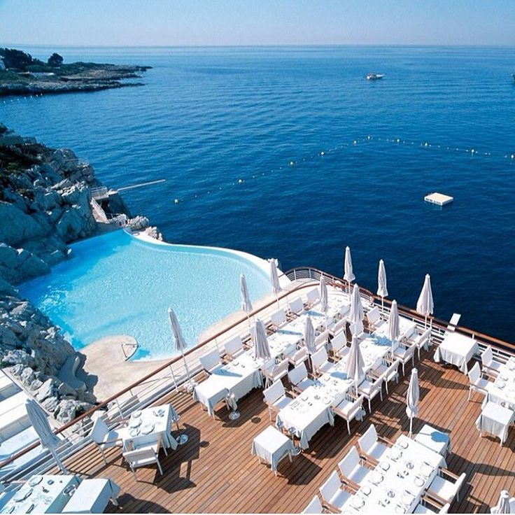 """""""Hotel du Cap-Eden-Roc, Antibes, France. Dating back to 1870 and a recent edition to our bucket list. #gosomewhere #antibes #vacation"""""""