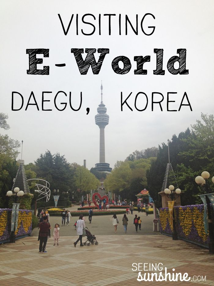 E-World in Daegu, Korea -- rides and food and fun!