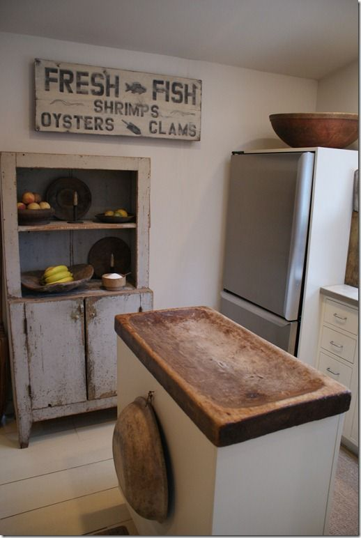 kitchen was once an outside storage room that she enclosed - Gloria Oviatt's home