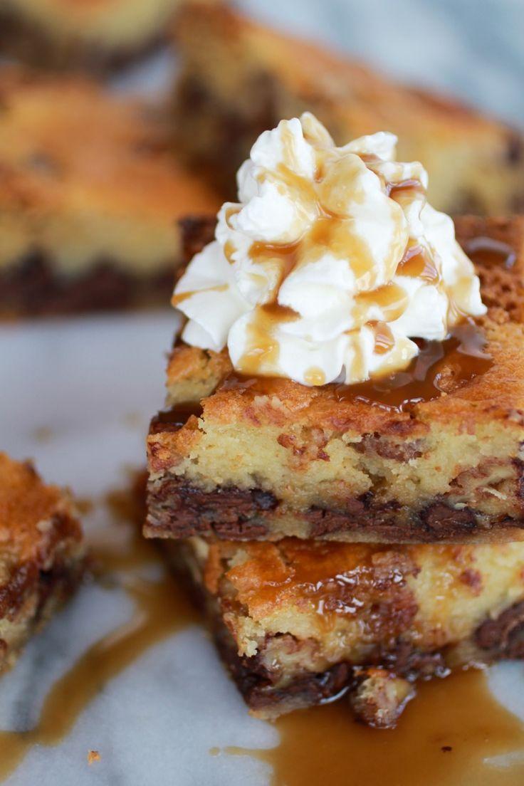 Kentucky Derby Pie Chocolate Chip Cookie Bars | http://www.halfbakedharvest.com/