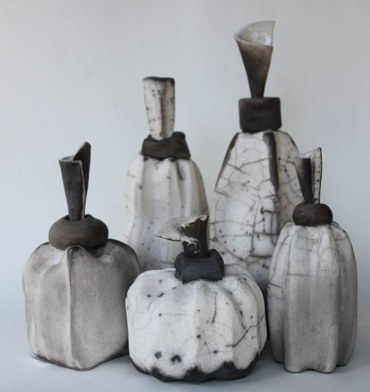 decorative raku bottles, prices vary from AUD 15.00 to 25.00 for the bigger ones