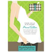 Gender Neutral Baby Shower Invitations, Belly Green Presents, 18042