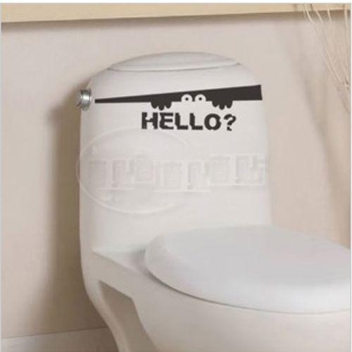 Бесплатная доставка пальца ноги щели здравствуйте ванная комната стены туалет стикер фреска искусство винил декор украшение наклейка W948
