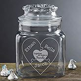Buy personalized candy jars & find personalized romantic gifts for Valentine's Day & Sweetest Day.
