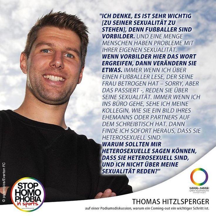 """#QuoteOfTheDay  Der frühere deutsche Fußballnationalspieler Thomas Hitzlsperger hat in einem sich viral entwickelnden Ausschnitt [1] einer Podiumsdiskussion der niederländischen Fußball-Legende Clarence Seedorf erklärt warum ein Coming-out ein wichtiger Schritt ist."""" Mehr dazu auf Männer Magazin [2]. [1] https://youtu.be/KPY1K_mvJp0 [2] http://ift.tt/2nfjFMv  #EnoughisEnough #StopHomophobiaInSports #VielfaltSport #StopHomophobia #LGBTI #Community #Gesellschaft #Fussball #ThomasHitzelsperger"""