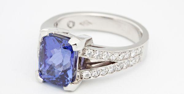 Beautiful blue stone engagement ring!