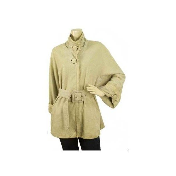 Levinson Jacquard Beige Genuine Leather Jacket with large Snap buttons... via Polyvore featuring outerwear, jackets, beige jacket, jacquard jacket, snap jacket, genuine leather jackets and flower print jacket