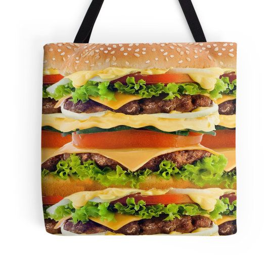 Burger Me! Tote Bag - Available Here: http://www.redbubble.com/people/rapplatt/works/12600050-burger-me?p=tote-bag