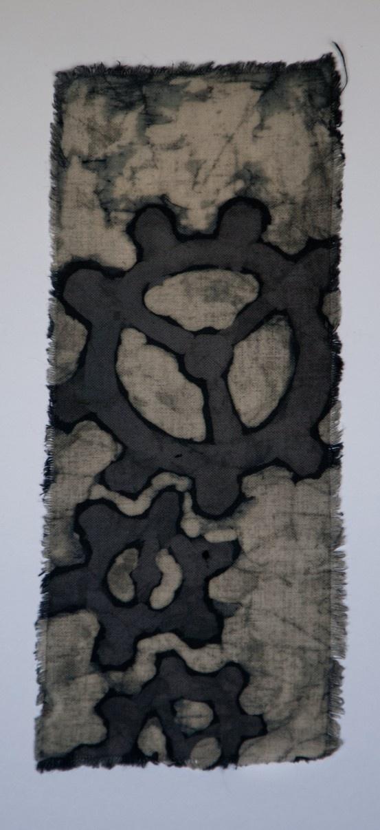 """Batik - bookmark; Artist: Dawid Buchwald """"Manufacture Buchwald"""""""