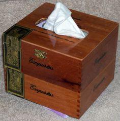 Cigar box tissue dispenser