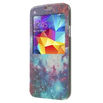 View folio læder etui til Galaxy S5  - Galakse