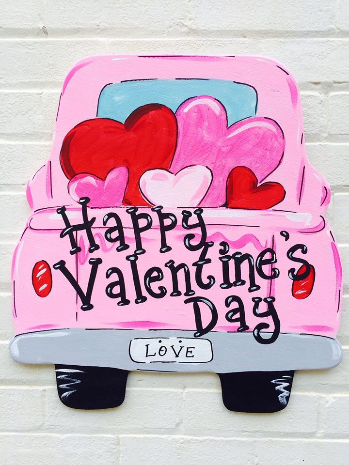 Vintage Truck Valentine S Day Personalized Hand Painted