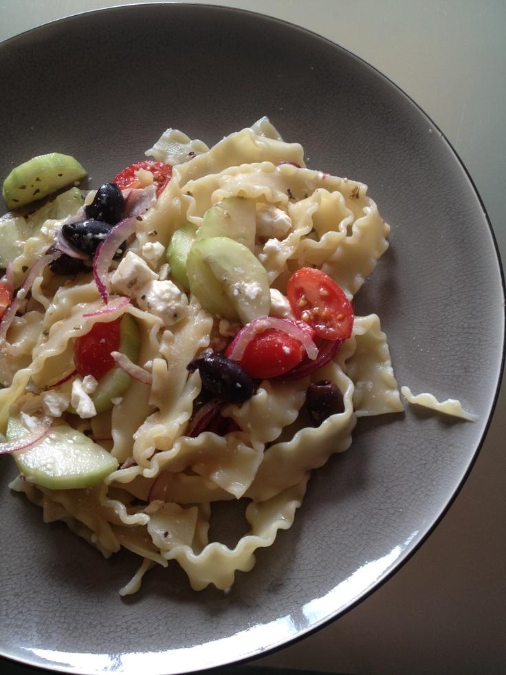 Greek pasta salad.