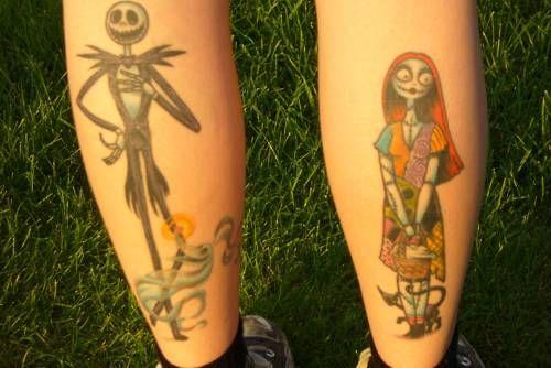 Best 75 Jack& Sally Tattoos Ideas On Pinterest