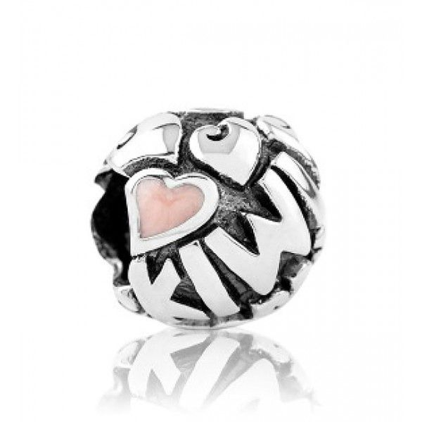 LKE012 Evolve Charm Love Heart - Pink Enamel - Sterling Silver - Free Delivery - 5 Year Guarantee #mothersday