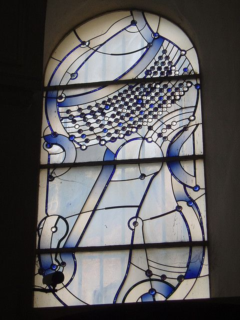 Fabulous Modern glazing in the Baroque west entrance porch of Aachen Cathedral designed by local based artist Ludwig Schaffrath
