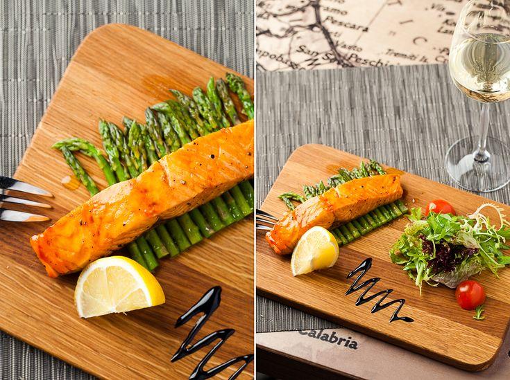 Лосось на пару с соусом терияки и листьями салата: 400р - Долькабар. Еда, как искусство!