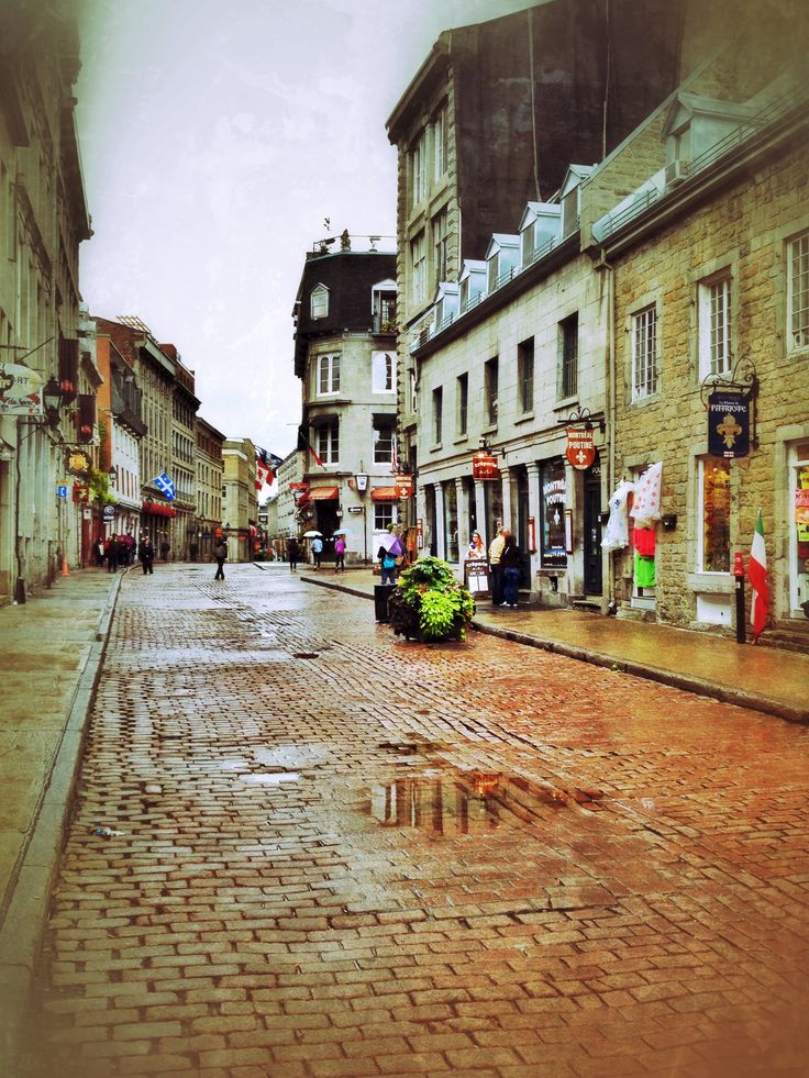Rainy day in Old Montreal