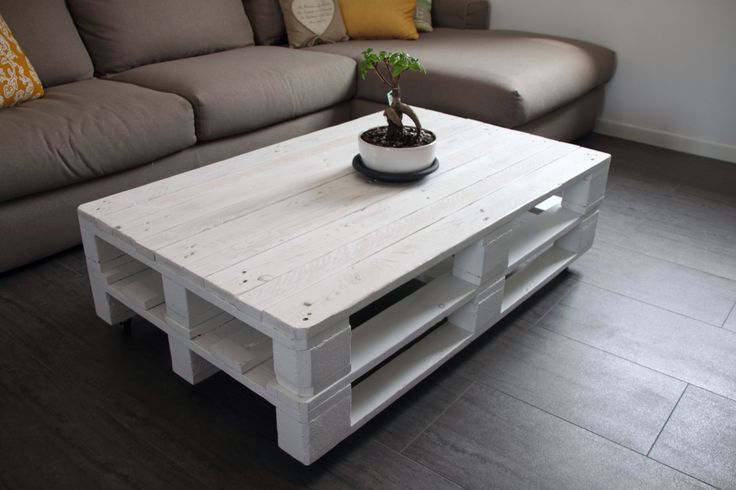 Tavolino fatto con pancali Pallet table