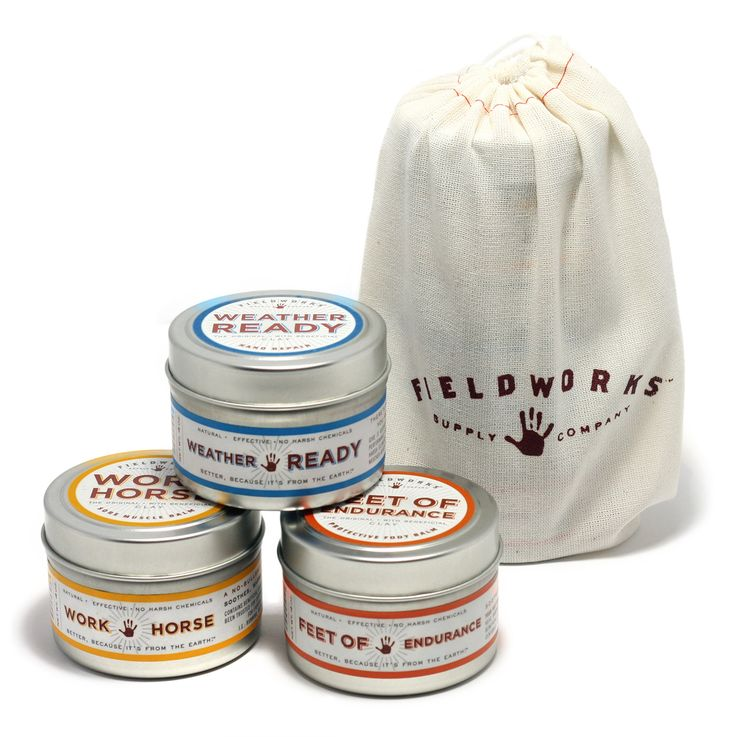 Unique product line from Portland, Oregon containing bentonite clay. Products for Men, Women and your sweet pooch!  Pictured here: 3 balms gift set - Fieldworks Supply Company