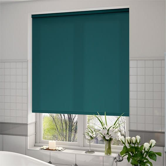 Valencia Simplicity Teal Roller Blind