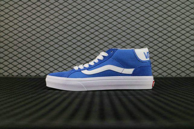 925f67e927 Vans Mid Old Skool Pro 50TH 79 Blue White VN000Z15J6O 881862119563  6000160441 Blue Skate Shoe  Vans