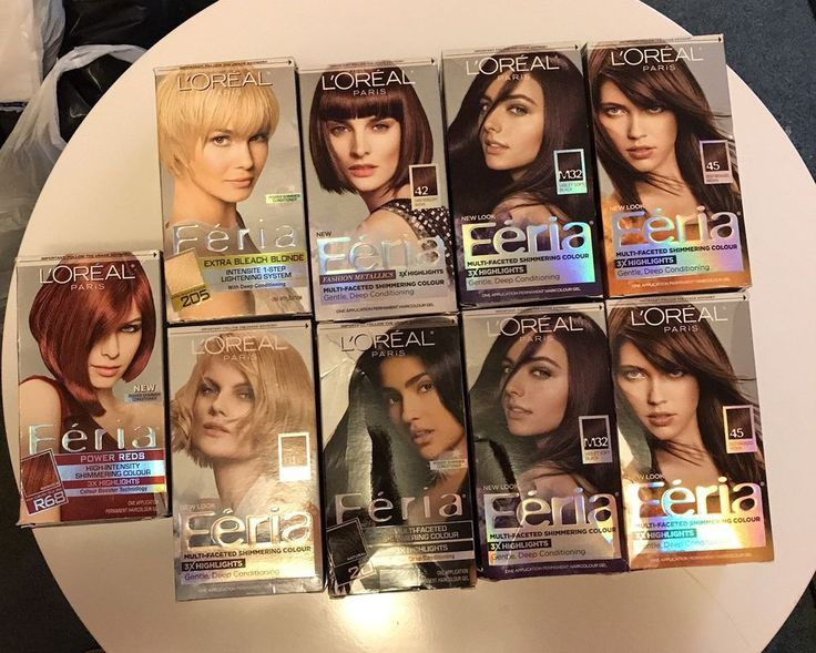 Lot Of 9 NEW Loreal Féria Hair Color  | eBay