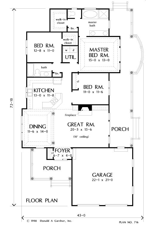 Side access garage house plans