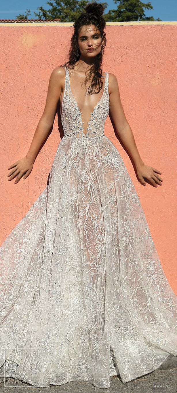 Pink wedding dress say yes to the dress  BERTA Wedding Dresses Spring   Miami Bridal Collection