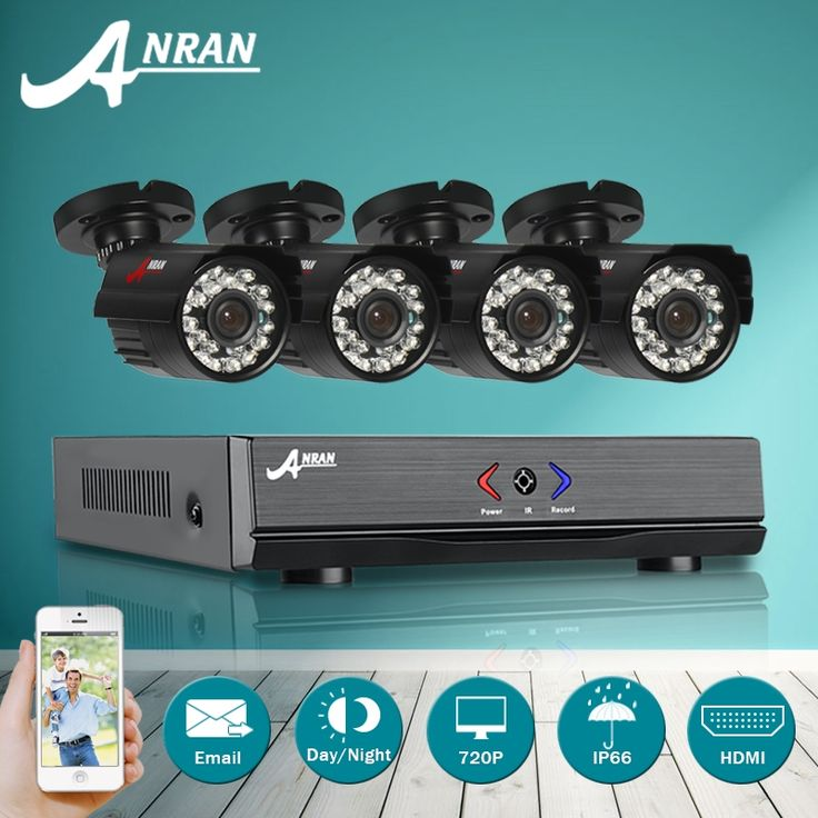 108.88$  Watch here  - ANRAN 4CH 1080N HD DVR AHD Security Camera System&720P IR Waterproof CCTV Camera Outdoor Home Video Surveillance Kit Email Alarm