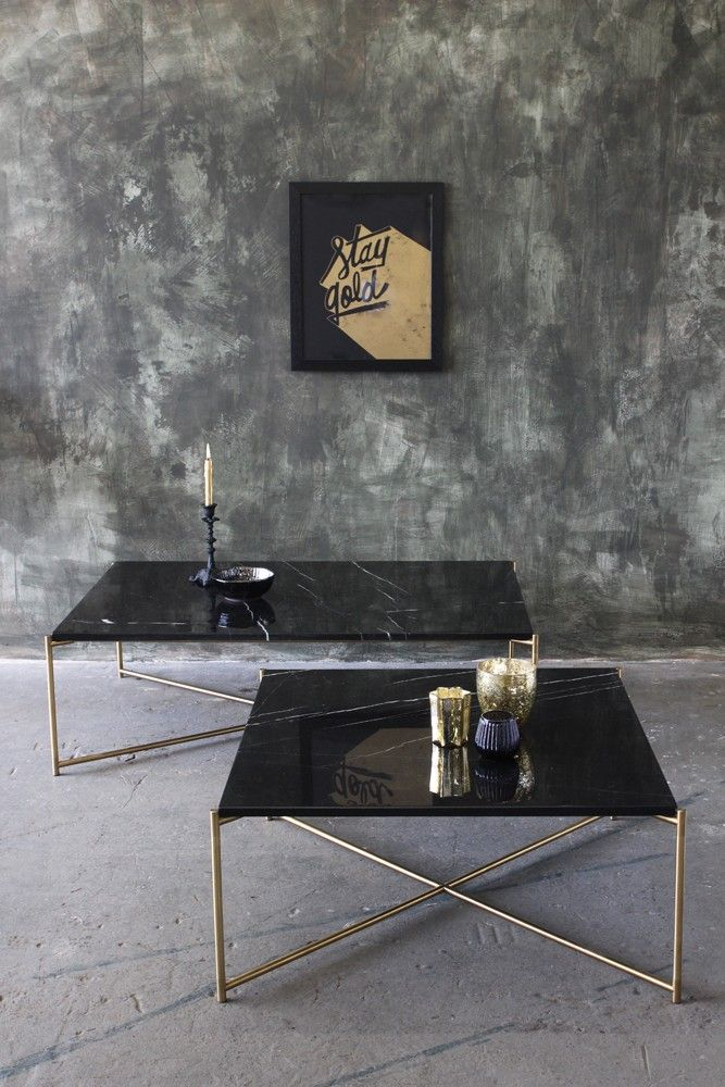 Carrara Marble Coffee Table - Black Marble - View All - Furniture