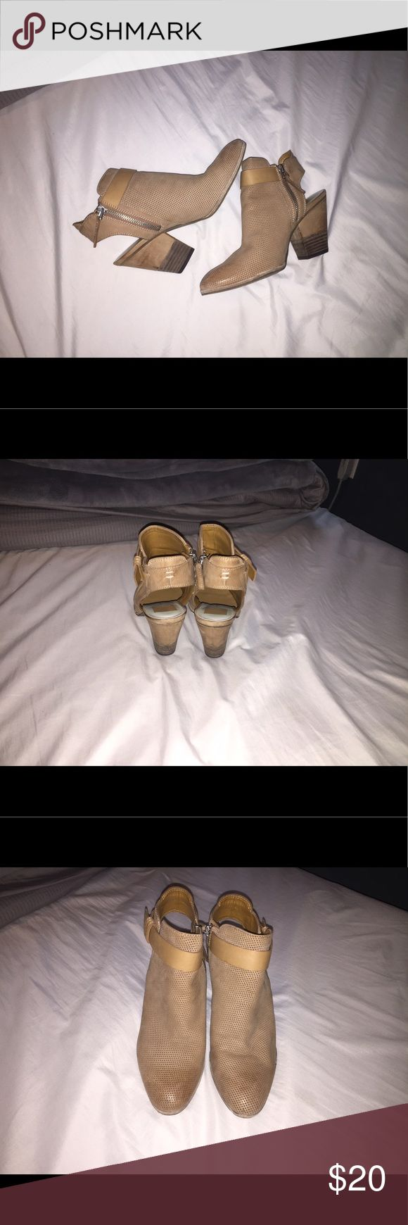 Cute Sandal Booties Cute, sand colored sandal booties. Super airy for summer comfort but still wearable in chilly weather Dolce Vita Shoes Wedges