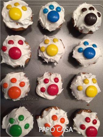 decoração para cupcake festa infantil pets