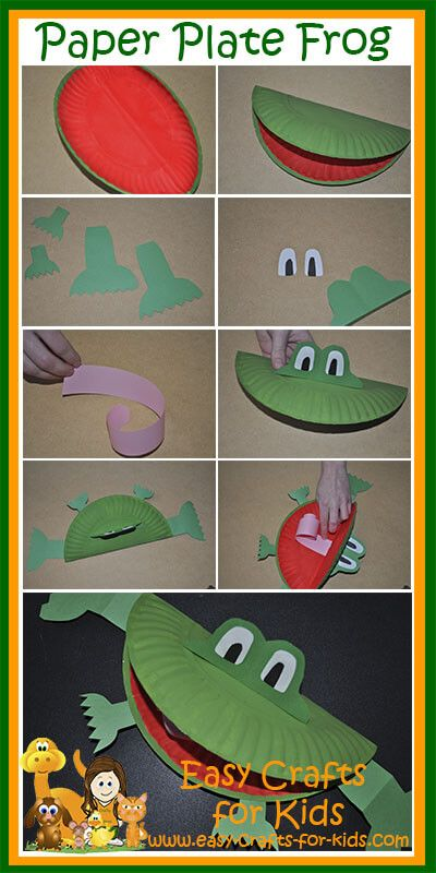Step By Step Instructions for our Paper Plate Frog Crafts for Kids