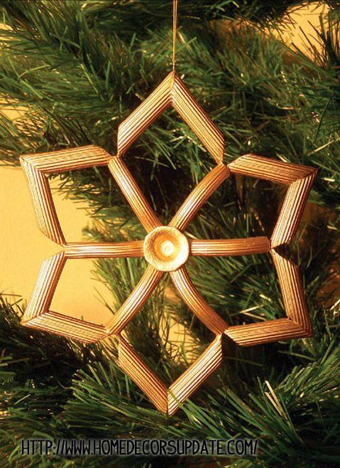 adorno navidad macarrones - DIY Navidad con niños