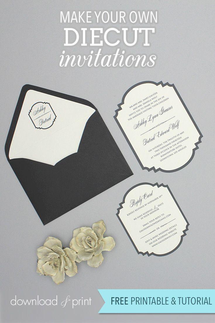 75 best Free Printable Wedding Invitations images on Pinterest ...
