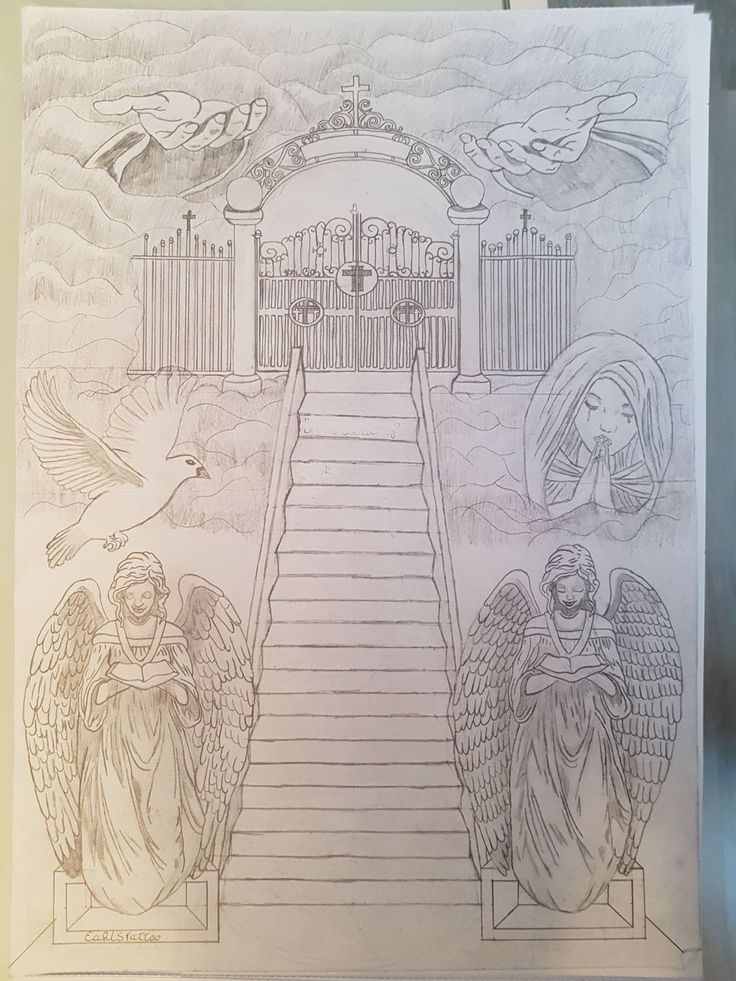 Stairway to heaven This piece I design because I lost my mother so I wanted something to remember her off and that she will take the stairs to heaven. This is a back piece #stairway #stairs #heaven #engels #handsoffgod #dove #gate #clouds #mothermary #god #tattoo #designer #ontwerper #beginner #backpiece #backpiecetattoo #earltattoo