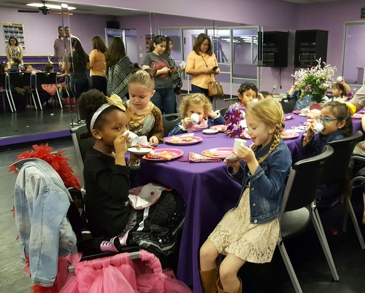 Tea time is always incredible at Vicki Michelle Dance Studio in Spring, Texas.