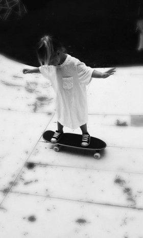 Child-Skateboarding - Image source unknown #Photograph #Child #Skateboard
