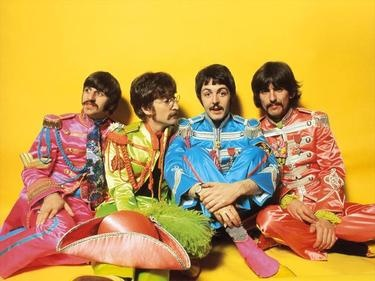 "The Beatles are seen during, ""Sgt. Pepper's Lonely Hearts Club Band""; album cover shoot: Ringo Starr, John Lennon, Paul McCartney and George Harrison. (AP)"