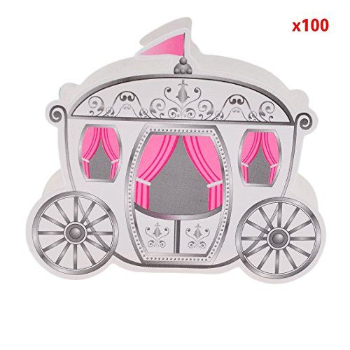 100 Cinderella Fairy Tale Carriage Wedding Gift Favor Can…