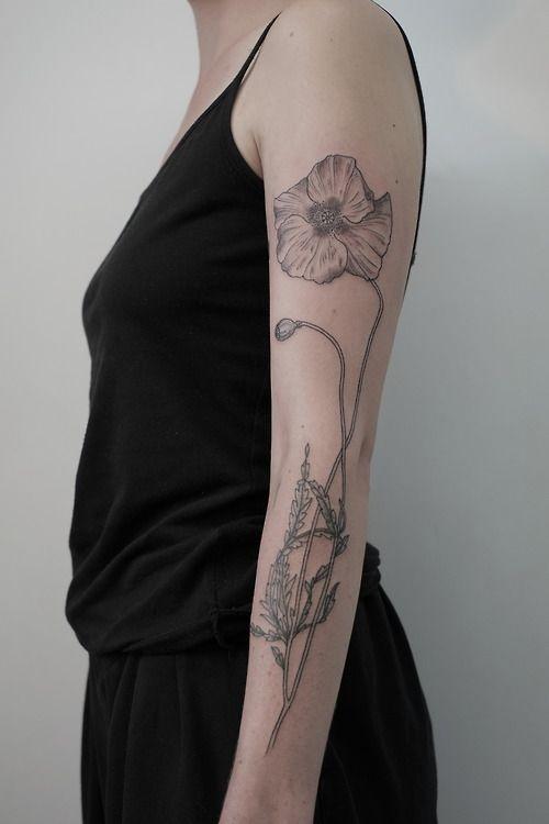 Daisy tattoo.