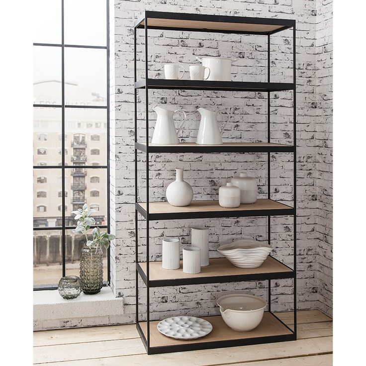 Brunel Tall Display Cabinet By Gallery Homewares Made Using Dry Oiled,  French, Wild Oak