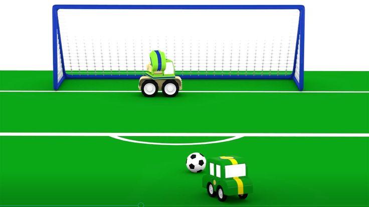 Cartoni animati: La grande partita! Calcio per i bambini Calcio!Chi vince? Le macchinine colorate si sfidano in una partita di calcio! Un nuovo cartone animato sul gioco del calcio. Chi farà gol? Il campo da calcio è pronto per il torneo, la Champions Leag #calcio #bambini #cartonianimati