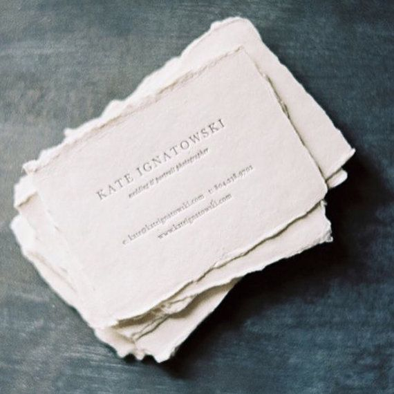 BLANK cotton paper to be used for commercial printing or hand lettering. Perfect size for place cards, business cards, escort cards, or name tags. Flat paper 2.5 x 3.5 (set of 30) all natural deckled edges (not torn or cut) offered in three weights: 150gsm ($15), 250gsm ($20) or 300gsm ($25.00). There is a price break at a quantity of 150 cards: 150gsm ($65.00), 250gsm ($85.00) or 300gsm ($110).  This beautiful handmade paper is made of 100% Cotton Rag using cotton textile remnants. This is…