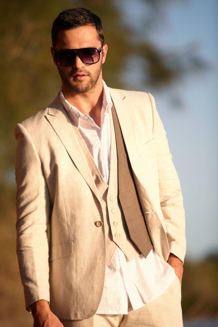 Sand Slim Fit Suit with Sand and Oak Vests. www.whenfreddiemetlilly.com.au whenfreddiemetlilly [!at] gmail.com INSTAGRAM #whenfreddiemetlilly