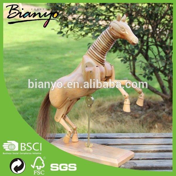 Bn-wh-07 niños caballo mecedora de madera modelo de venta / decoración del hogar de madera caballo